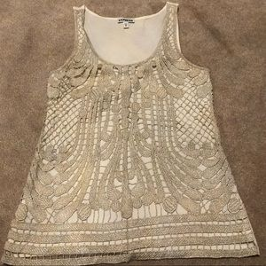Express embroidered tank top XS
